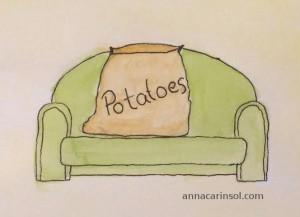 Soffa potatis couch potato